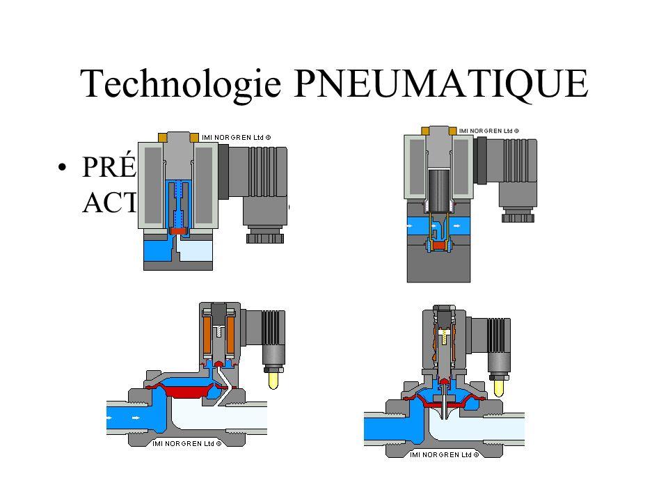 Technologie PNEUMATIQUE PRÉ- ACTIONNEURS
