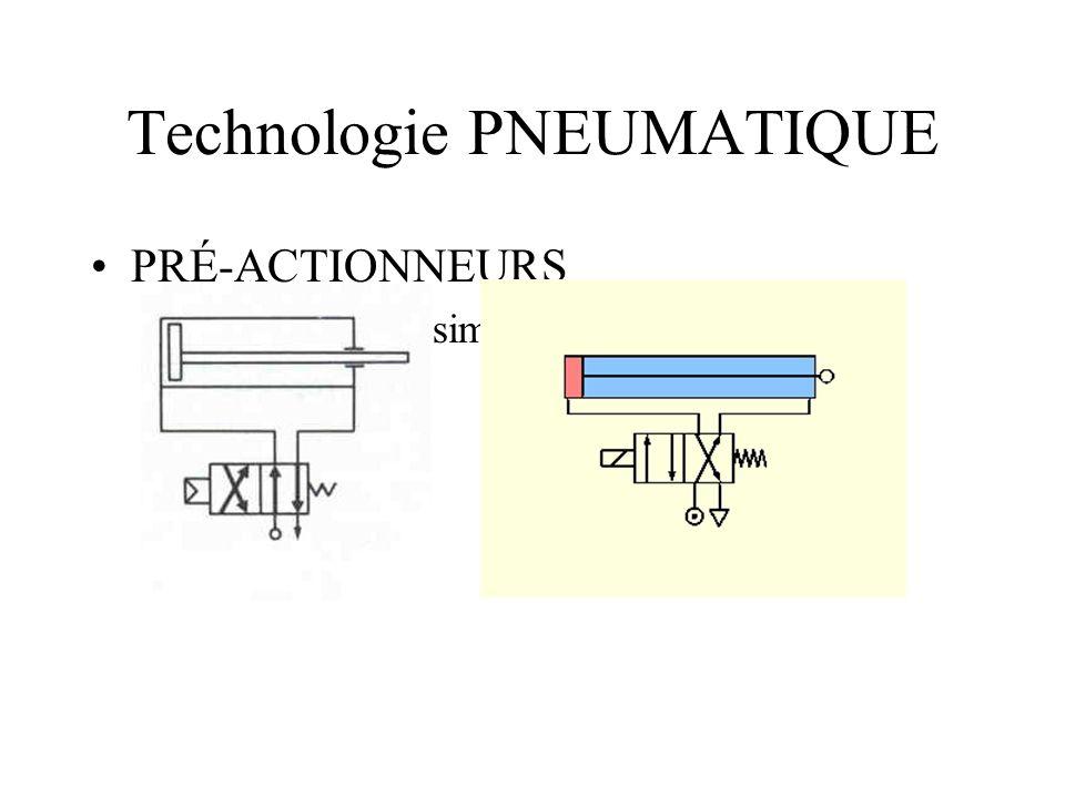 Technologie PNEUMATIQUE PRÉ-ACTIONNEURS –Distributeurs à simple action (2 montages différents)