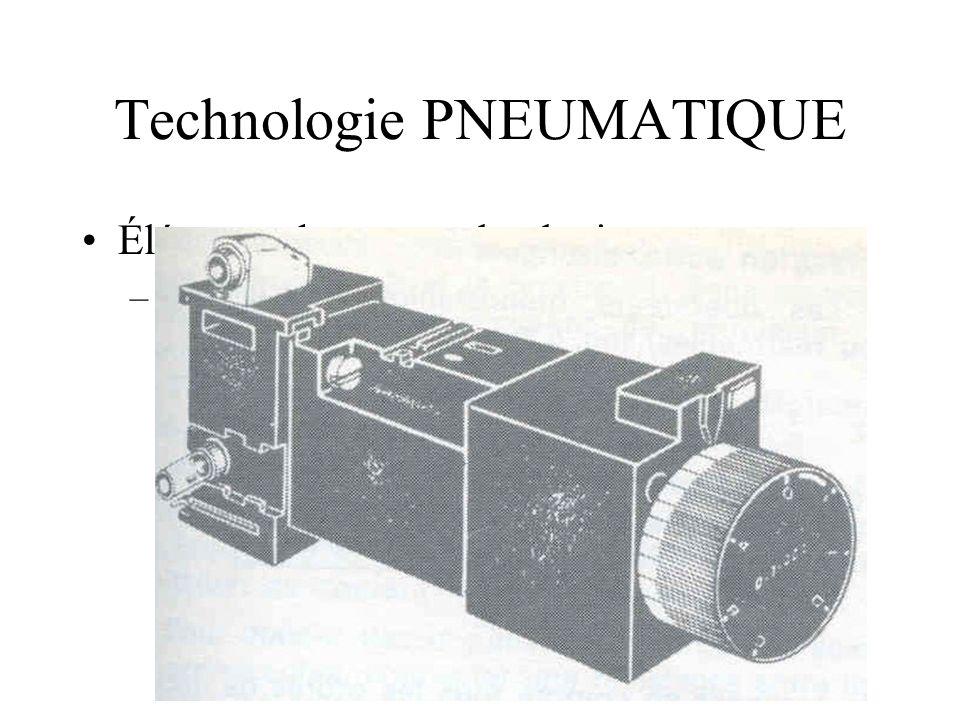Technologie PNEUMATIQUE Éléments de cette technologie –TEMPORISATION