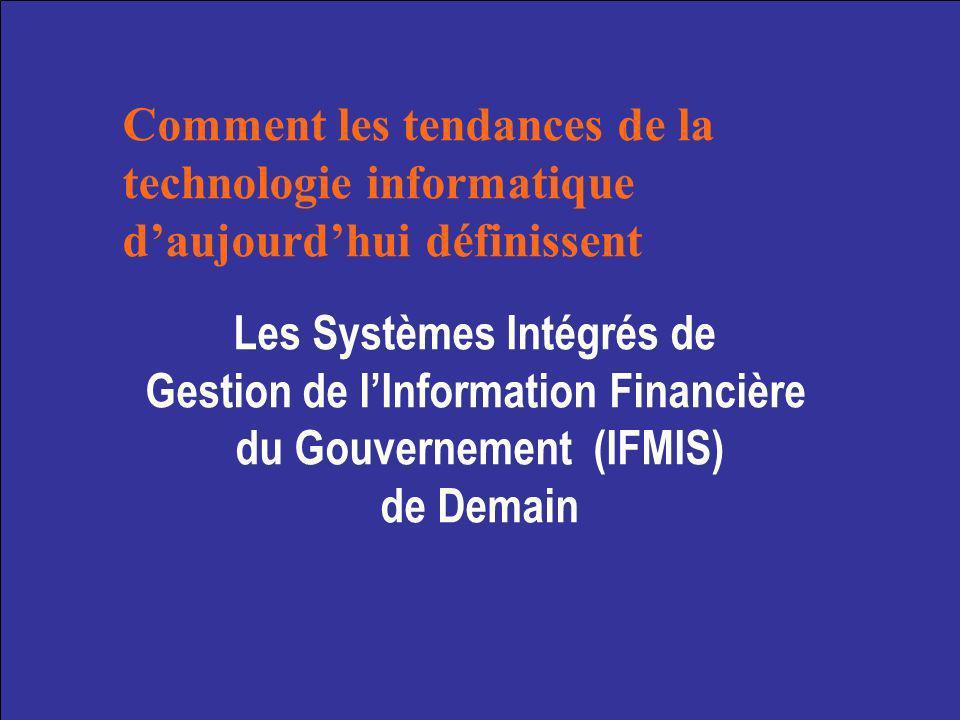 Programme Forces du marché et de la technologie affectant la Gestion Financière Publique (PFM) Technologie et réforme PFM 10 technologies clés et tendances du marché Conclusions