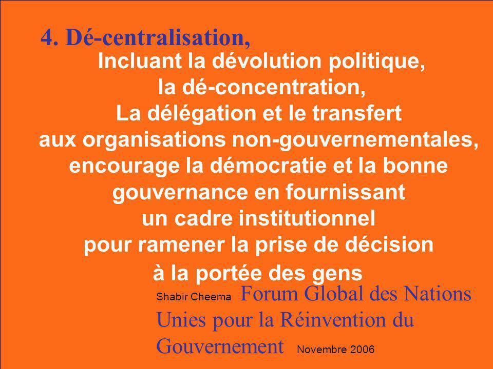Dévolution Délegation Dé-concentration Dépouillement