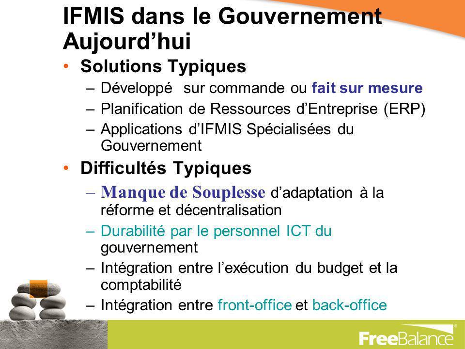 Technologie en Contexte TechnologieIFMIS Gestion Financière Publique Modernisation et Réforme Objectifs du Gouvernement