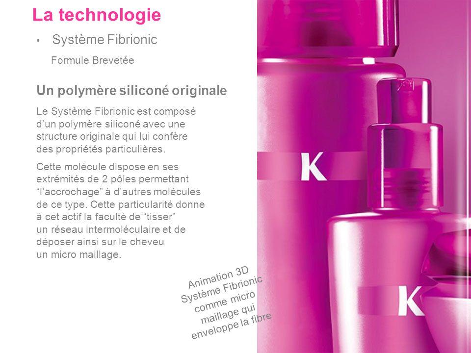 Un polymère siliconé originale Le Système Fibrionic est composé dun polymère siliconé avec une structure originale qui lui confère des propriétés part