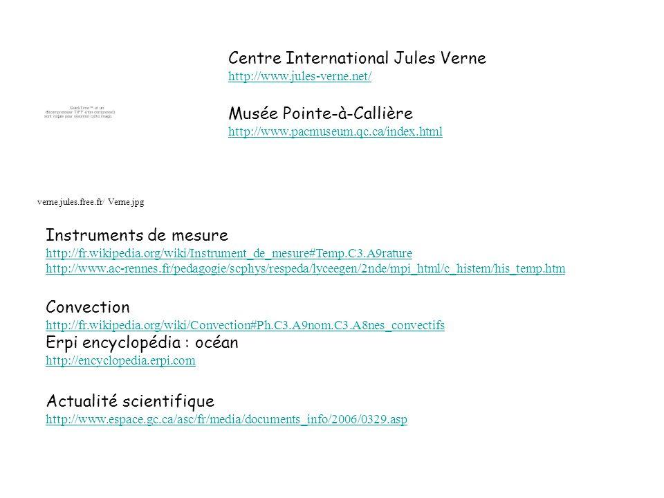 Instruments de mesure http://fr.wikipedia.org/wiki/Instrument_de_mesure#Temp.C3.A9rature http://www.ac-rennes.fr/pedagogie/scphys/respeda/lyceegen/2nd