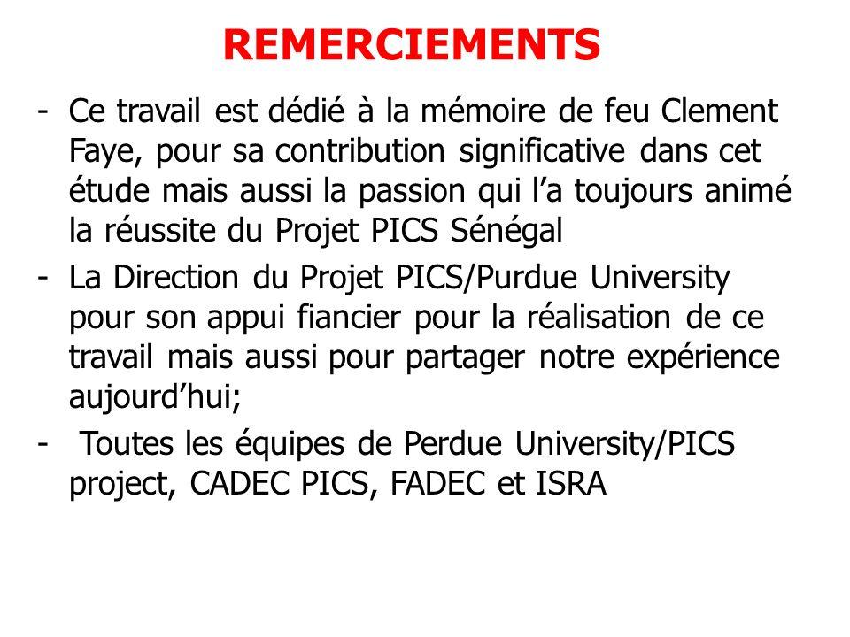 REMERCIEMENTS -Ce travail est dédié à la mémoire de feu Clement Faye, pour sa contribution significative dans cet étude mais aussi la passion qui la t