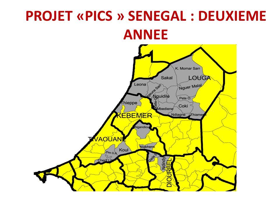 PROJET «PICS » SENEGAL : DEUXIEME ANNEE