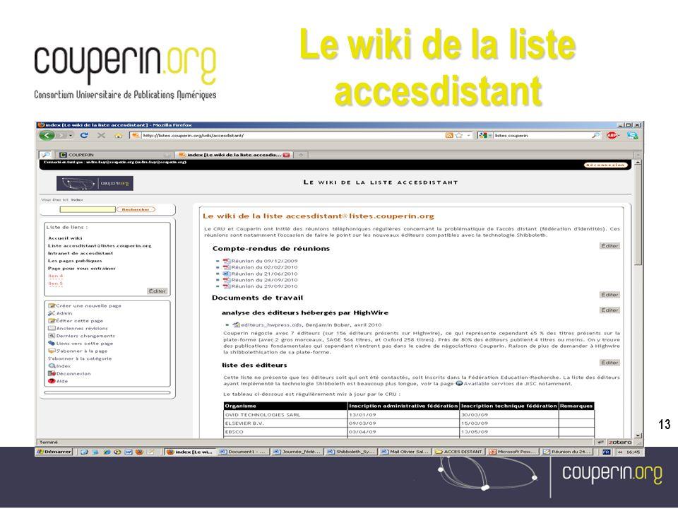 13 Le wiki de la liste accesdistant
