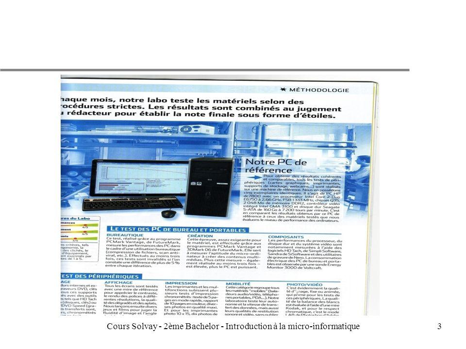 3Cours Solvay - 2ème Bachelor - Introduction à la micro-informatique