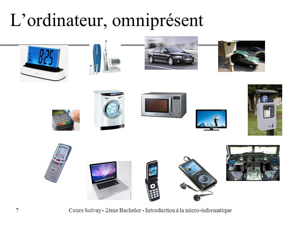 Lordinateur, omniprésent 7Cours Solvay - 2ème Bachelor - Introduction à la micro-informatique