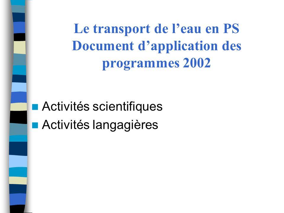 2- Un cadre pour « Découvrir le monde » Les programmes 2008 : une interrogation autour de deux questions : Question 1 : quels sont les enjeux dapprentissage.