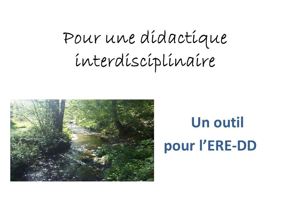 Pour une didactique interdisciplinaire Un outil pour lERE-DD