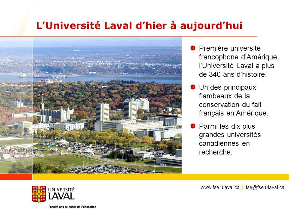 LUniversité Laval dhier à aujourdhui Première université francophone dAmérique, lUniversité Laval a plus de 340 ans dhistoire. Un des principaux flamb