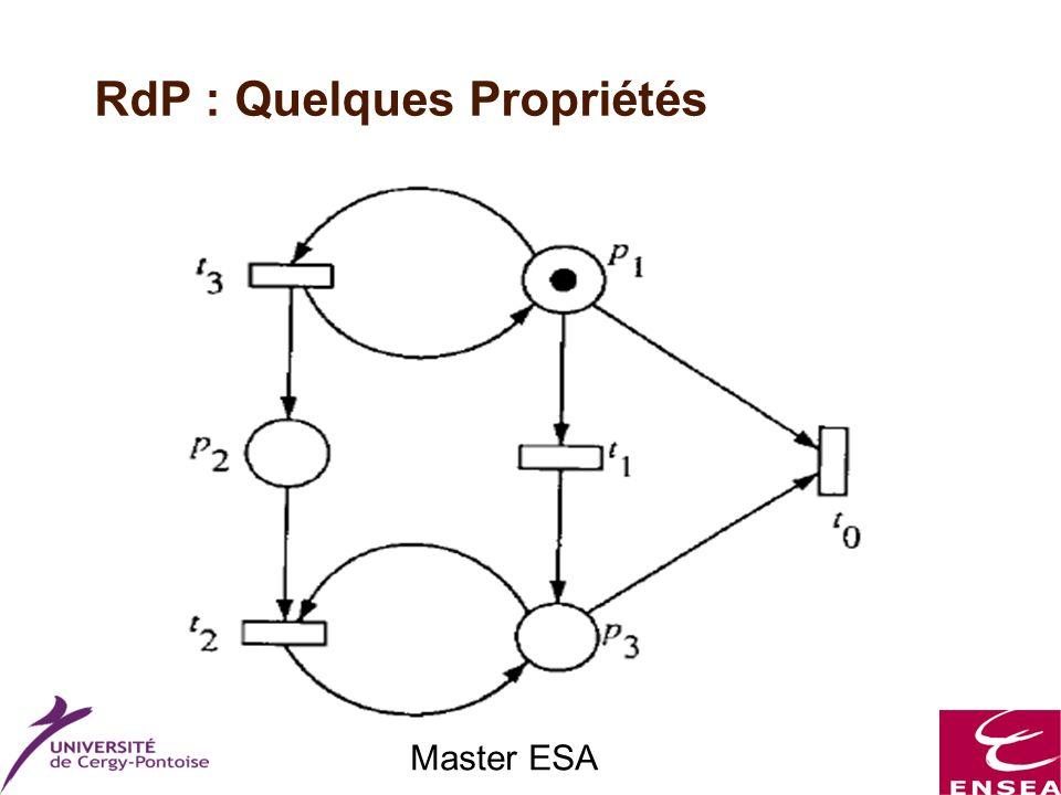 Master ESA RdP : Quelques Propriétés