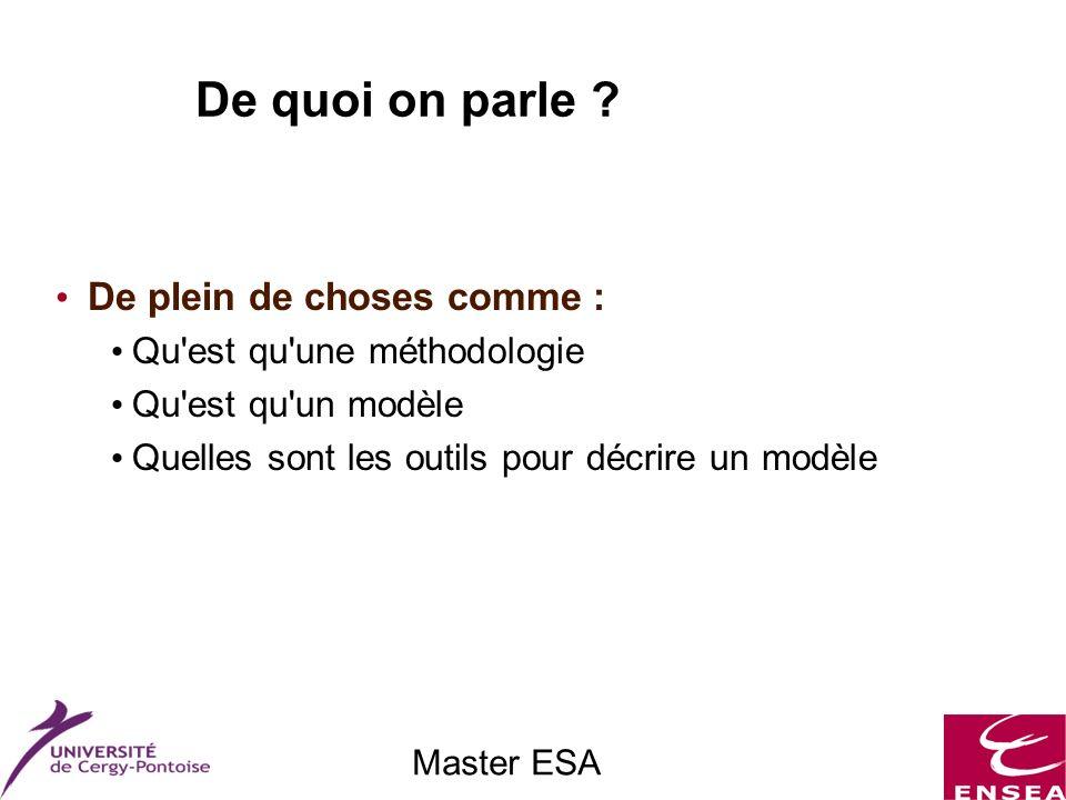 Master ESA Le flot de conception CoDesign : Les différentes étapes Co-simulation Une nécessité !!