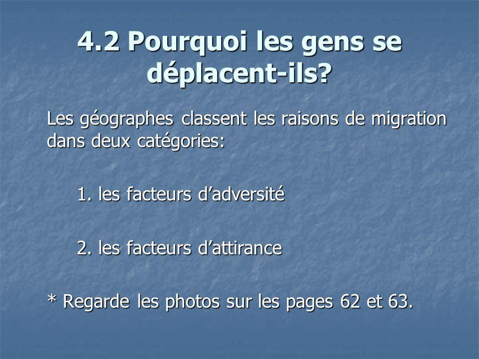 4.6 Émigration Lisez les pages 72 – 74 et répondez aux questions 18-19 dans vos livrets Lisez les pages 72 – 74 et répondez aux questions 18-19 dans vos livrets Remplissez le tableau (question #13) en vous servant des citations à la page 69.