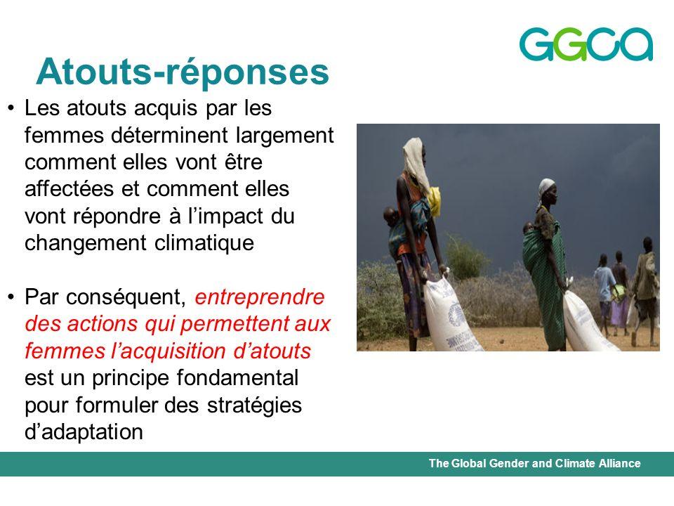 The Global Gender and Climate Alliance Atouts-réponses Les atouts acquis par les femmes déterminent largement comment elles vont être affectées et com