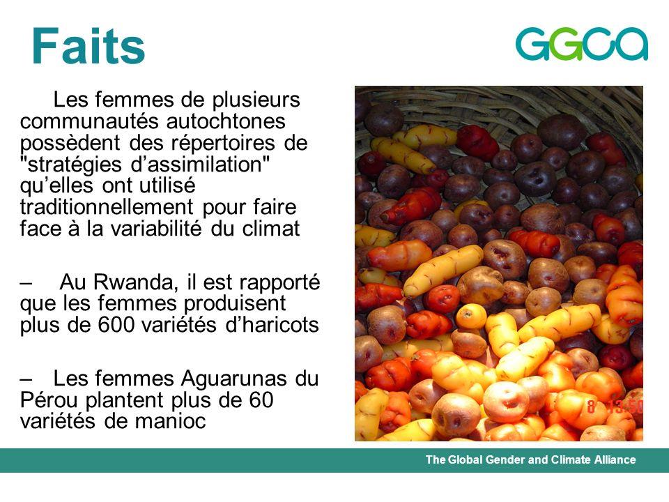 The Global Gender and Climate Alliance Faits Les femmes de plusieurs communautés autochtones possèdent des répertoires de