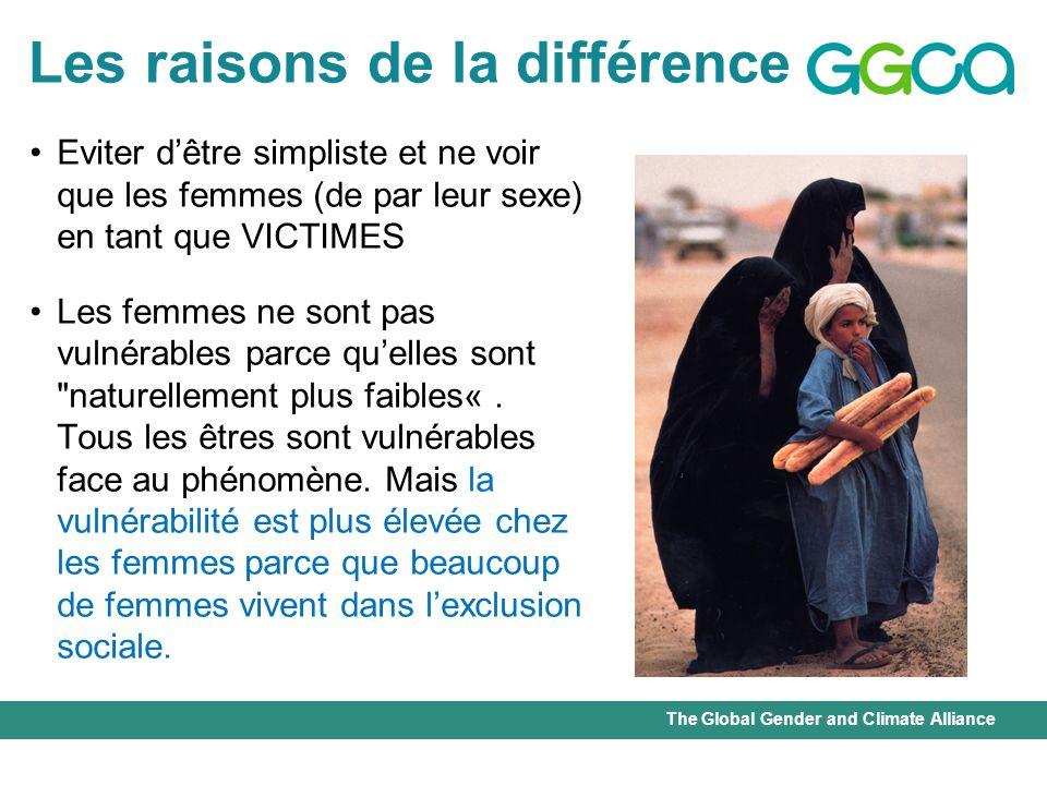 The Global Gender and Climate Alliance Catastrophes et genre Quand les droits de la femme ne sont pas protégés, les femmes meurent plus que les hommes face aux catastrophes naturelles.