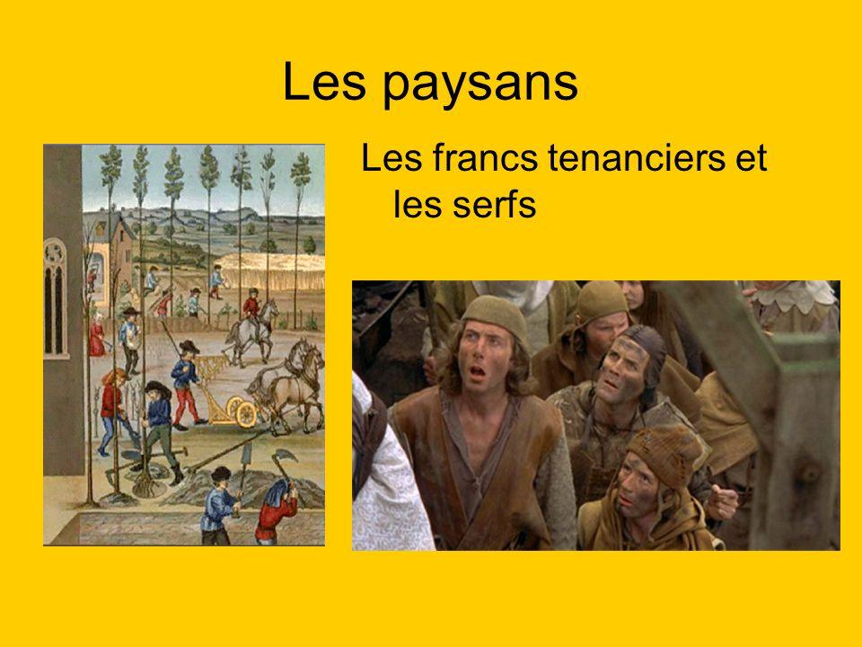 Les paysans Les francs tenanciers et les serfs