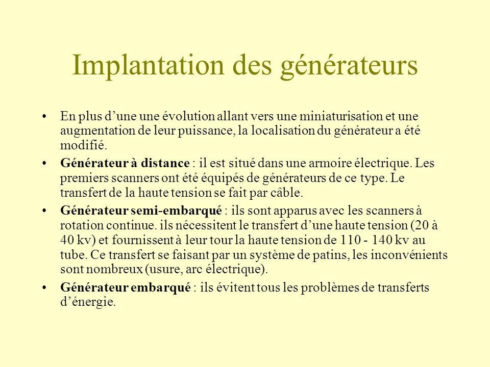 Implantation des générateurs En plus dune une évolution allant vers une miniaturisation et une augmentation de leur puissance, la localisation du générateur a été modifié.