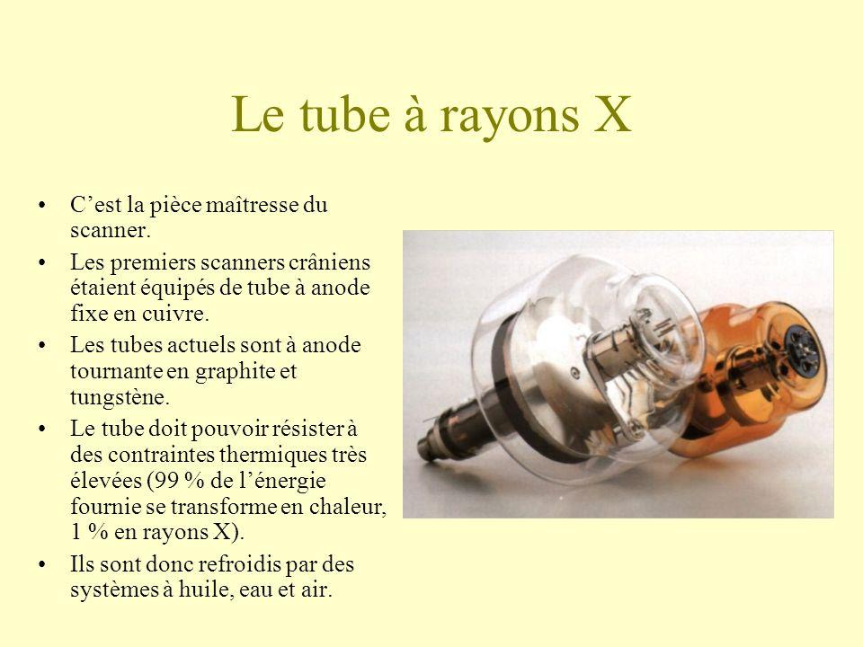 Le tube à rayons X Cest la pièce maîtresse du scanner.