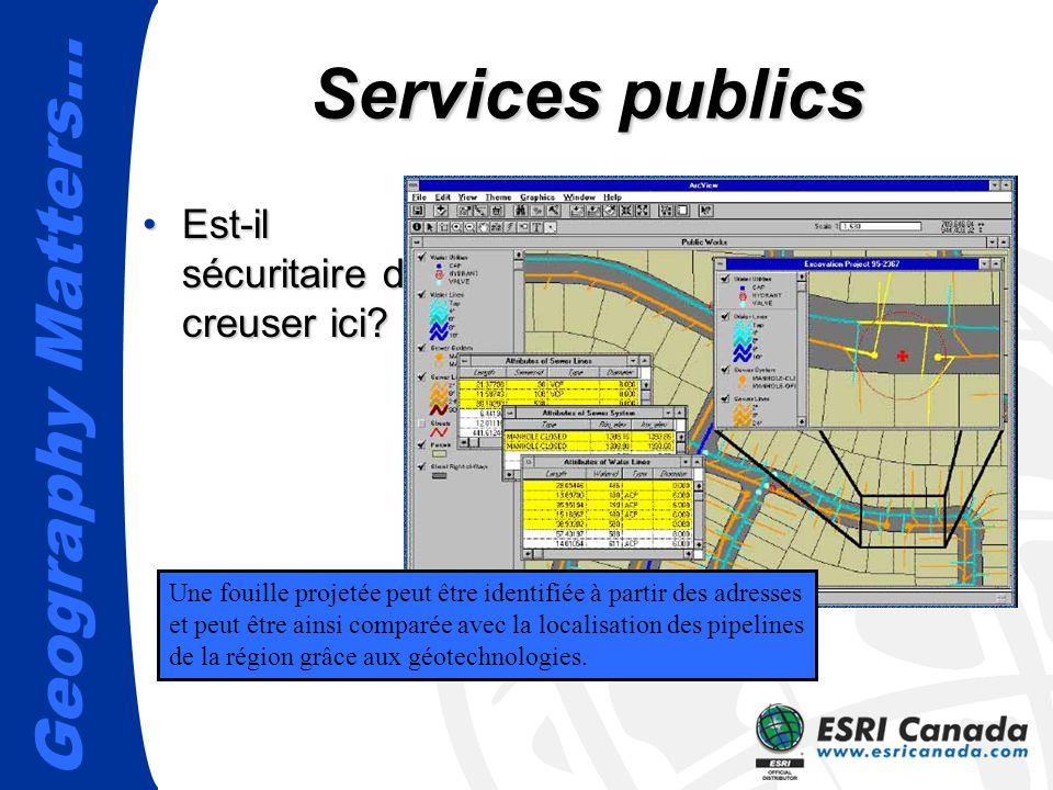 Geography Matters… Services publics Est-il sécuritaire de creuser ici?Est-il sécuritaire de creuser ici.