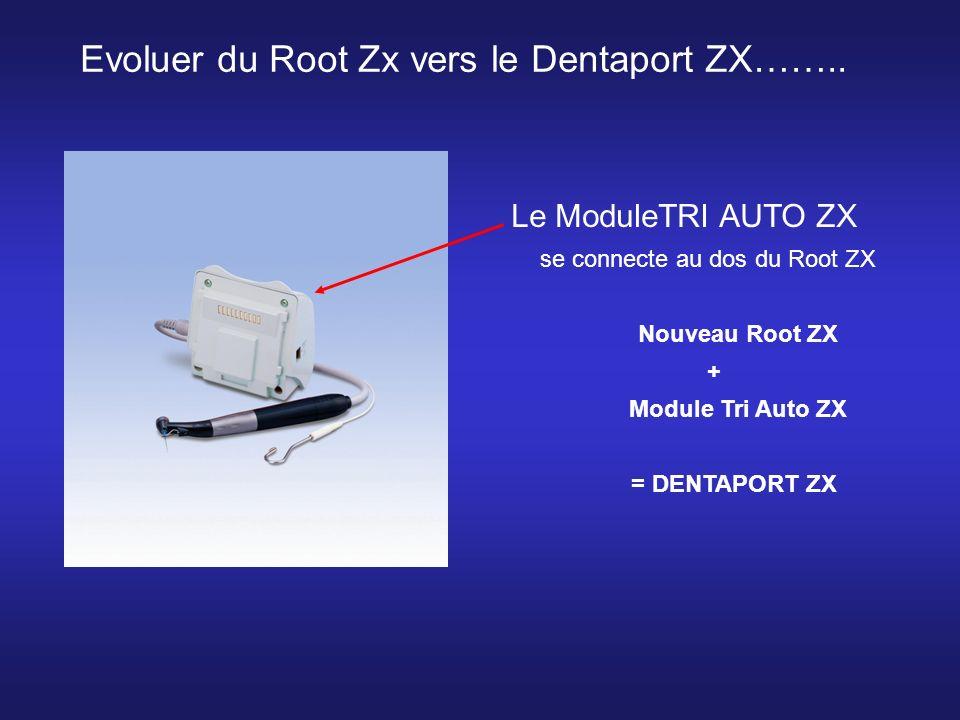 Le ModuleTRI AUTO ZX se connecte au dos du Root ZX Nouveau Root ZX + Module Tri Auto ZX = DENTAPORT ZX Evoluer du Root Zx vers le Dentaport ZX……..