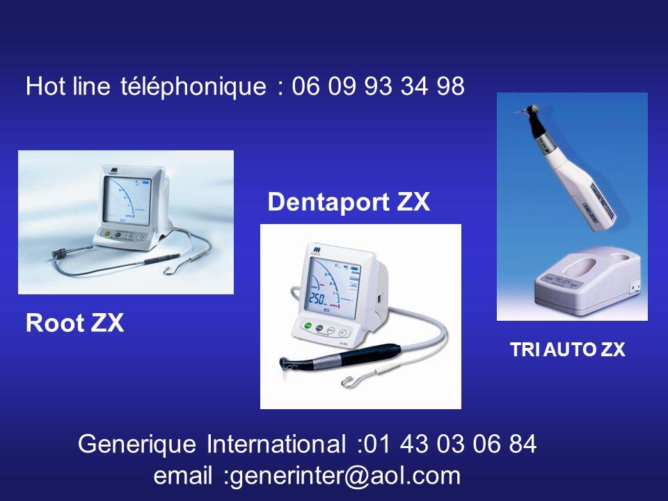 Hot line téléphonique : 06 09 93 34 98 Generique International :01 43 03 06 84 email :generinter@aol.com Root ZX TRI AUTO ZX Dentaport ZX