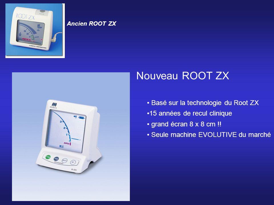 Nouveau ROOT ZX Basé sur la technologie du Root ZX 15 années de recul clinique grand écran 8 x 8 cm !! Seule machine EVOLUTIVE du marché Ancien ROOT Z