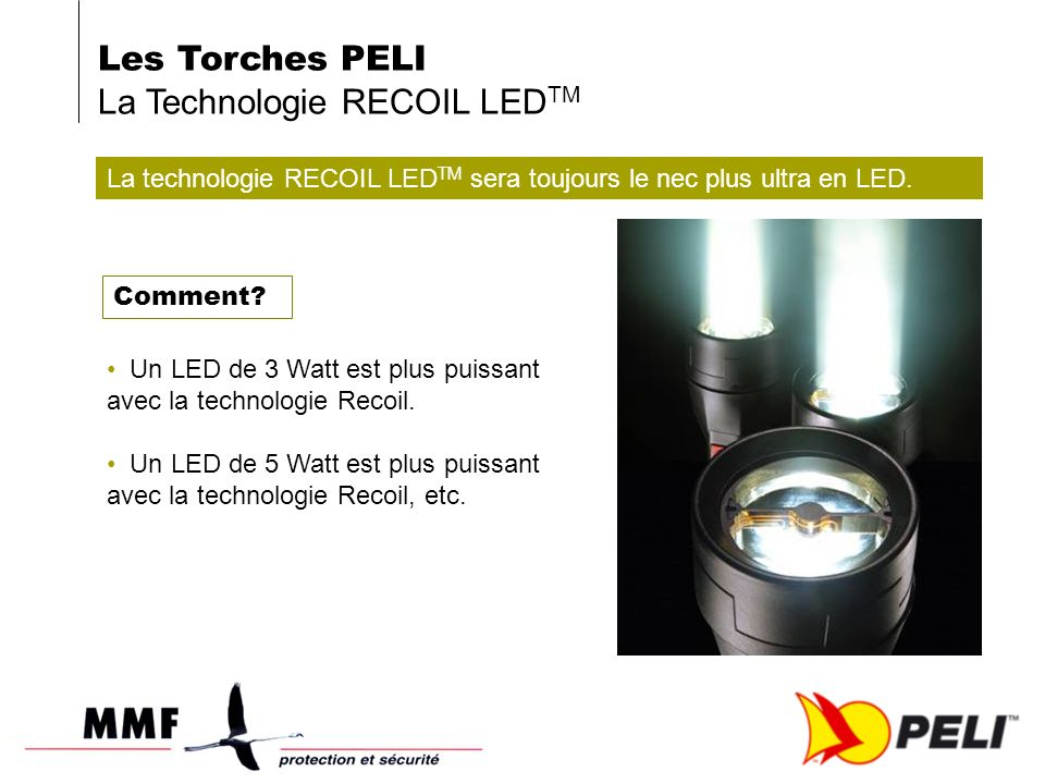 La technologie RECOIL LED TM sera toujours le nec plus ultra en LED.