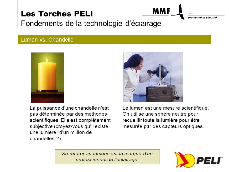 Les Torches PELI Fondements de la technologie déclairage Lumen vs.