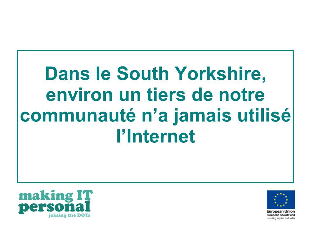 Dans le South Yorkshire, environ un tiers de notre communauté na jamais utilisé lInternet