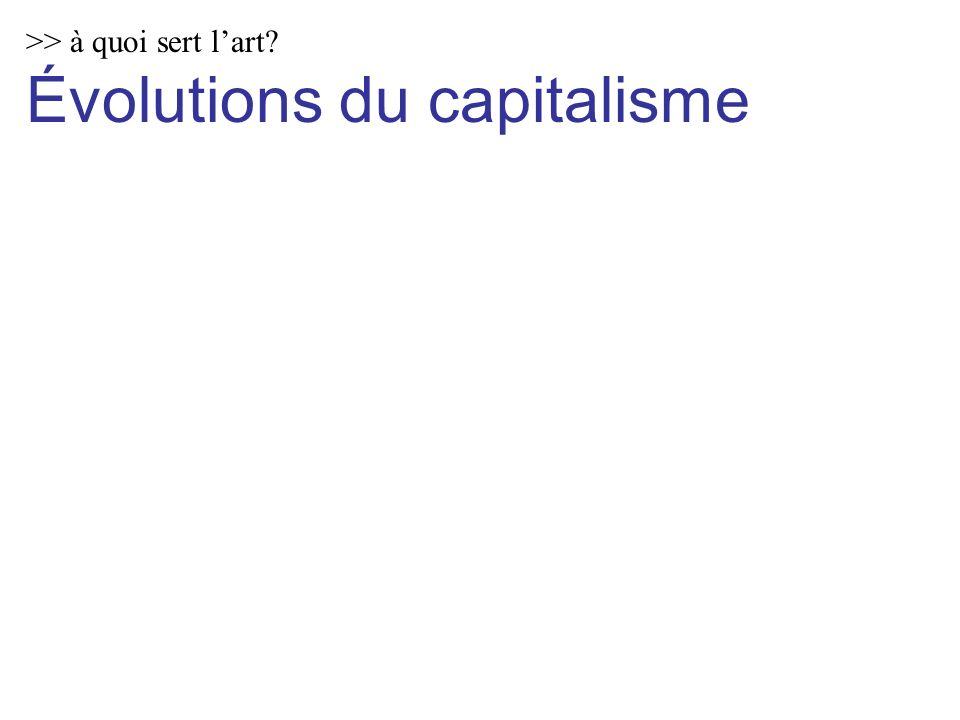 >> à quoi sert lart Évolutions du capitalisme