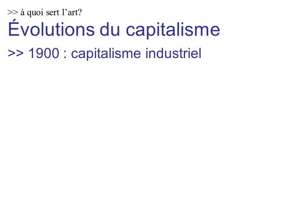 >> à quoi sert lart Évolutions du capitalisme >> 1900 : capitalisme industriel