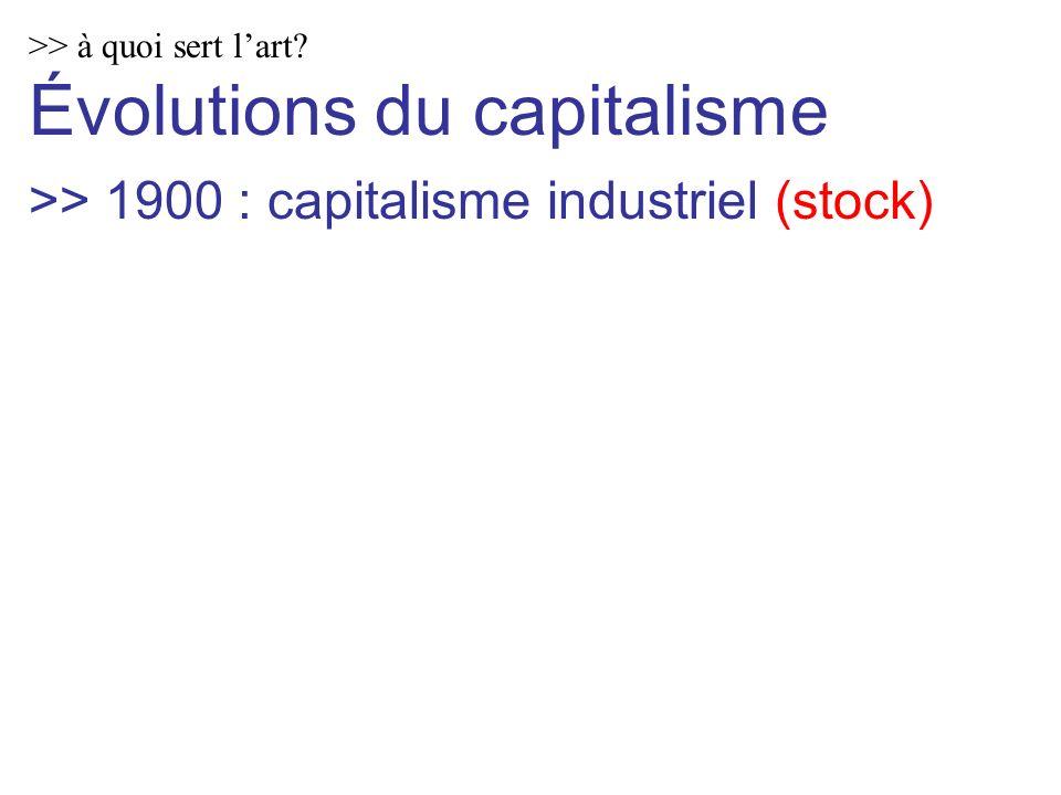 >> à quoi sert lart Évolutions du capitalisme >> 1900 : capitalisme industriel (stock)