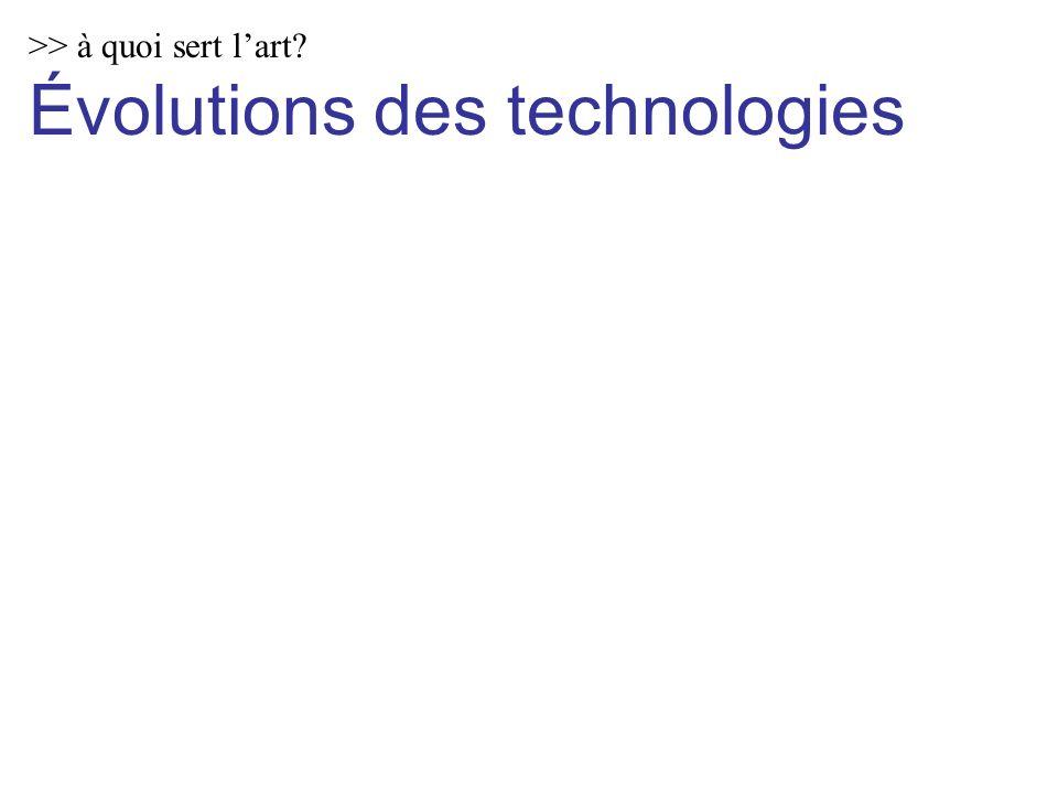 >> à quoi sert lart Évolutions des technologies