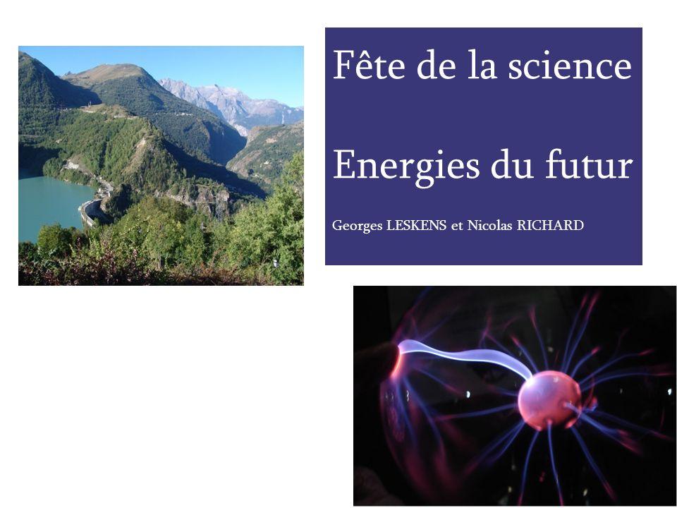 Présentation de lexposé - Prospective énergétique - Contexte - Du nucléaire actuel à lhydrogène - Etat de lart des énergies renouvelables - Solutions davenir