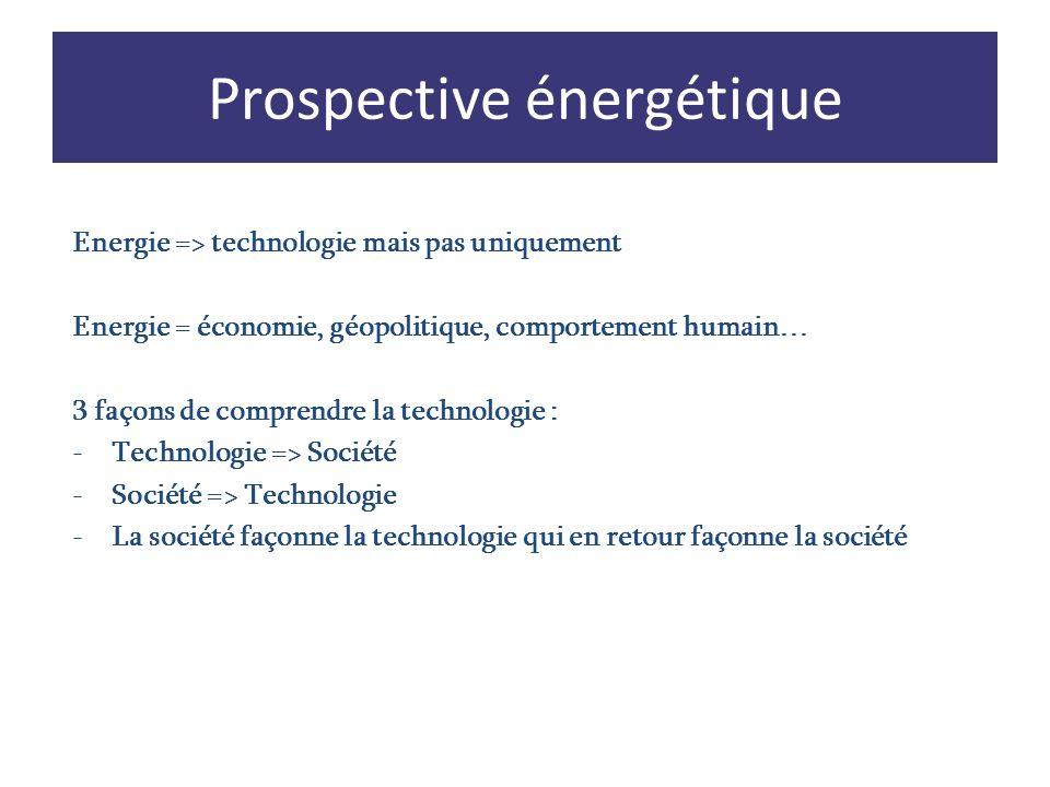 Energie => technologie mais pas uniquement Energie = économie, géopolitique, comportement humain… 3 façons de comprendre la technologie : -Technologie