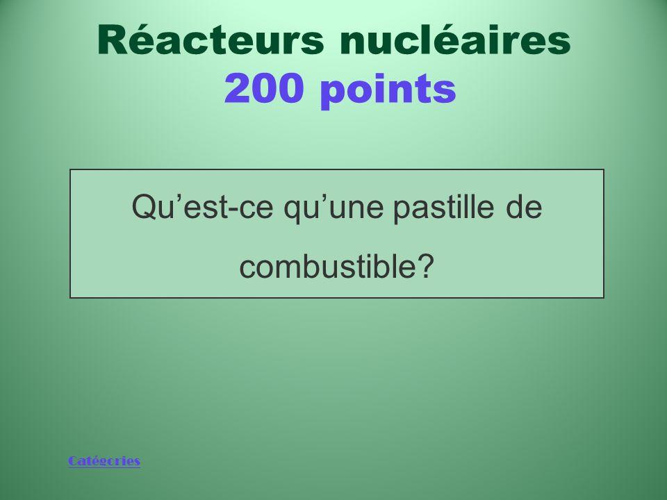 Catégories Objet (pas plus gros que le bout du doigt) qui se trouve au cœur dun réacteur nucléaire Réacteurs nucléaires 200 points