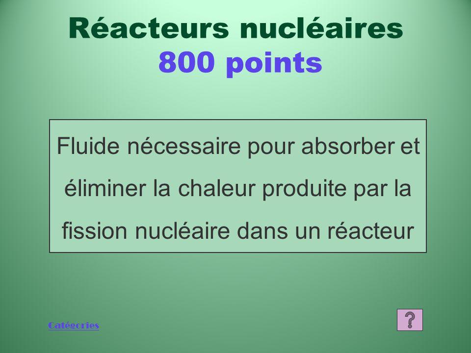 Catégories Quest-ce que luranium naturel (extrait au Canada)? Réacteurs nucléaires 600 points