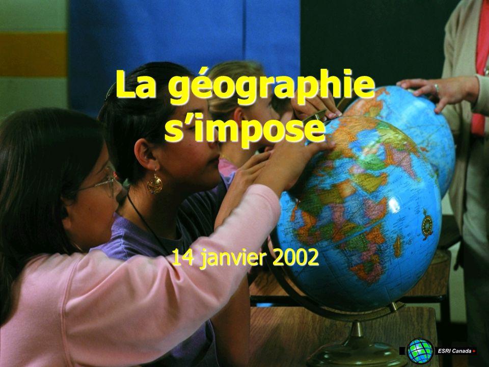 La géographie simpose 14 janvier 2002