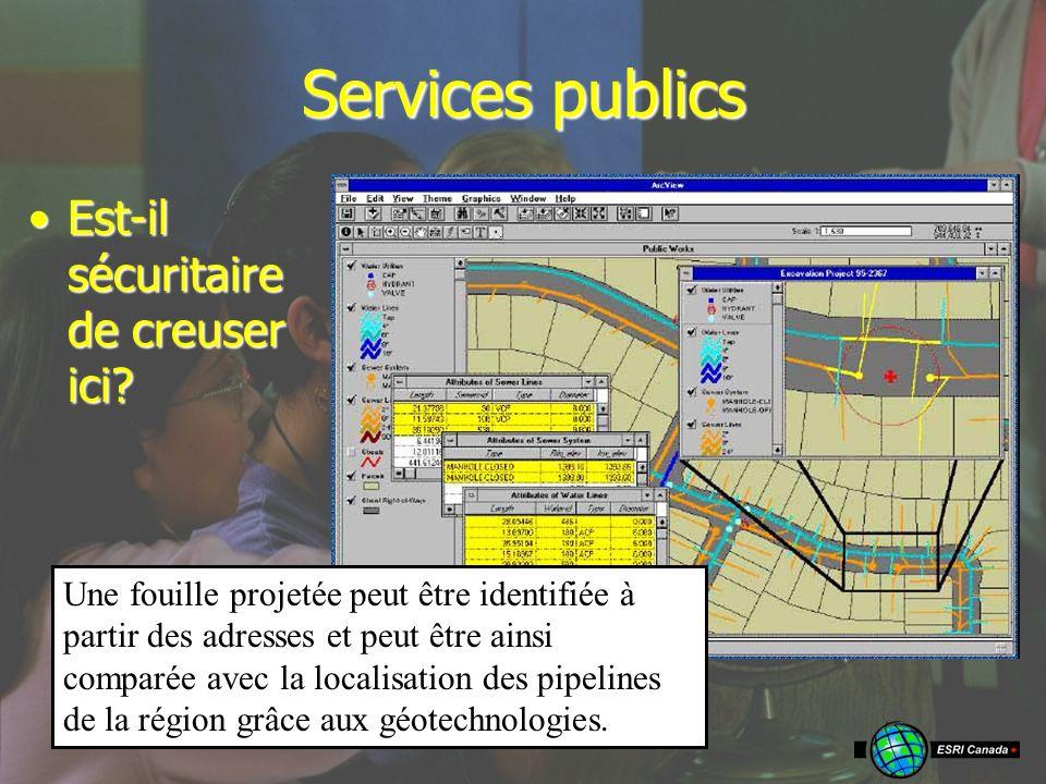 Services publics Est-il sécuritaire de creuser ici Est-il sécuritaire de creuser ici.