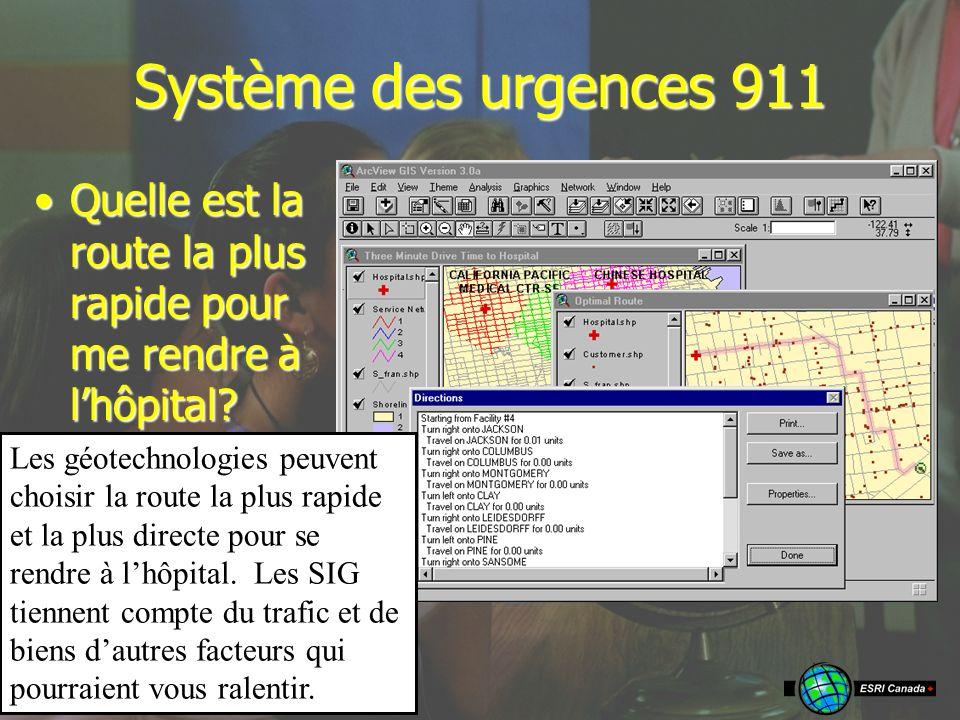 Système des urgences 911 Quelle est la route la plus rapide pour me rendre à lhôpital Quelle est la route la plus rapide pour me rendre à lhôpital.