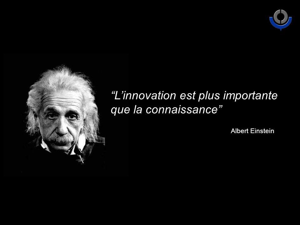 Linnovation est plus importante que la connaissance Albert Einstein