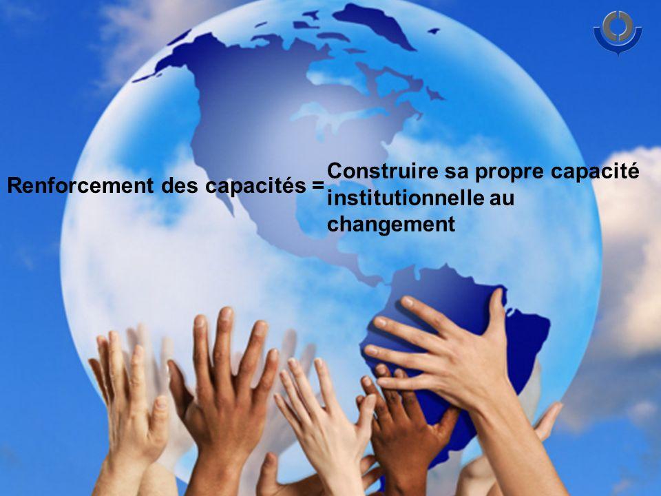 Renforcement des capacités = Construire sa propre capacité institutionnelle au changement