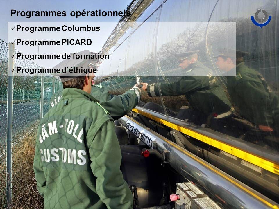 Programmes opérationnels Programme Columbus Programme PICARD Programme de formation Programme déthique