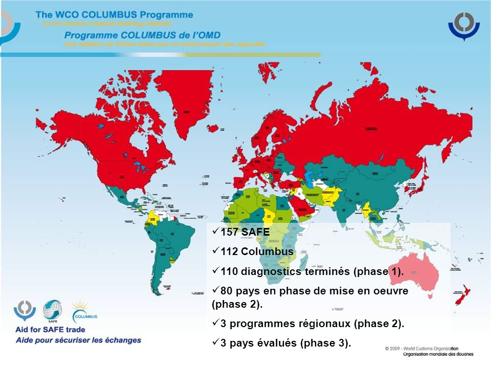 157 SAFE 112 Columbus 110 diagnostics terminés (phase 1).