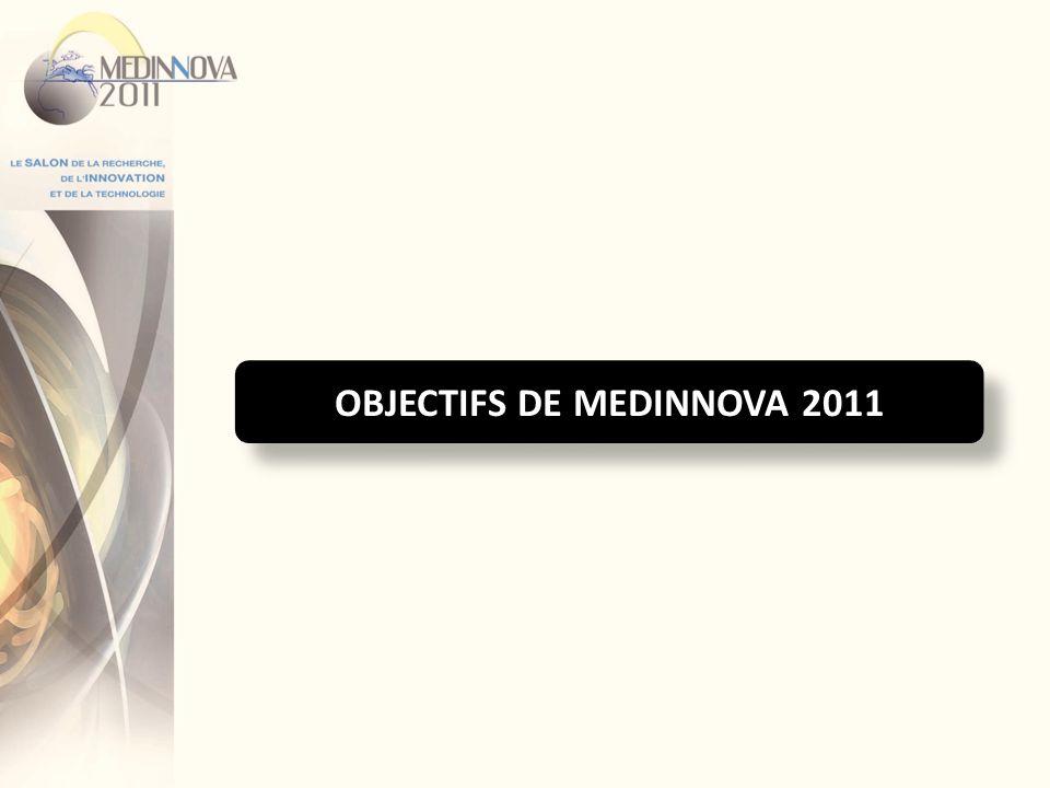 OBJECTIFS DE MEDINNOVA 2011