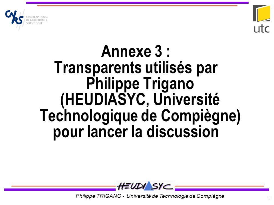 Philippe TRIGANO - Université de Technologie de Compiègne 2 Titre CEPIAH Conception et Evaluation de Produits Interactifs Pour lApprentissage Humain