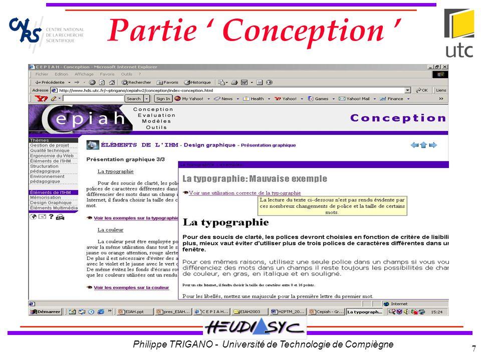 Philippe TRIGANO - Université de Technologie de Compiègne 8 Exemple de question Approfondissement Reformulation Partie Evaluation Reformulation Approfondissement